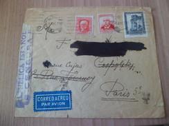 Pli Avion De Barcelone Le 8 Juin 1937 à Paris Le 12 Juin Distribué Le 14 Juin +censure Républicaine Espagnole +flamme TB - 1931-50 Cartas