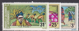 New Caledonia SG 548-50 1975 Tourism Set MNH - Unused Stamps