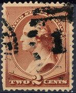 Stamp Us 1883 Washington 2c Fancy Cancel Lot#9 - Oblitérés