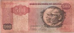 ANGOLA   500 Kwanzas   11/11/1987   P. 120b - Angola