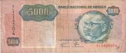 ANGOLA   5000 Kwanzas   4/2/1991   P. 130c - Angola