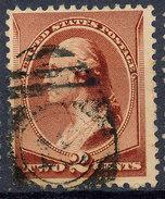 Stamp Us 1883 Washington 2c Fancy Cancel Lot#67 - Used Stamps