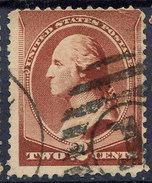 Stamp Us 1883 Washington 2c Fancy Cancel Lot#79 - Used Stamps