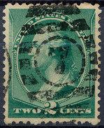 Stamp Us 1887 Washington 2c Fancy Cancel Lot#167 - Used Stamps