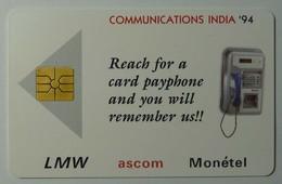INDIA - Gemplus Demo - Communications India '94 - LMW Ascom Monetel - 1000ex - 10.94 - Mint - India