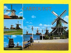 CPSM MOULIN A VENT HOLLAND ( Prix Net ) ( Posted Amsterdam ) - Molinos De Viento