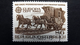 Österreich 1713 Oo/used, EUROPA/CEPT 1982, Erste Pferdeeisenbahn Linz-Freistadt-Budweis (1832) - 1981-90 Used