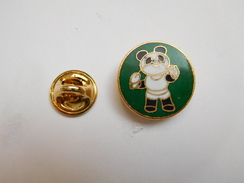 Beau Pin´s ,  XIe Asian Games 1990 , Beijing , Chine , Panda , Escrime , Fleuret - Escrime