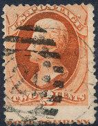 Stamp Us 1879 Jackson 2c Fancy Cancel Lot#7 - Gebraucht