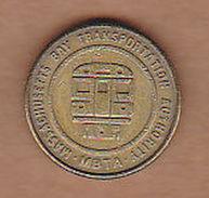 AC -  MASSACHUSETTS BAY TRANSPORTATION AUTHORITY MBTA BOSTON FARE TOKEN - JETON - Monetary/Of Necessity