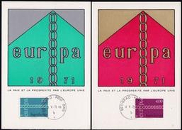 EUROPE 1971, Maximum Cards - 1945-1992 Socialist Federal Republic Of Yugoslavia