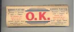 """TOP !! RARE  - Paquet De Bigoudis """" O.K. """" - Femme, Mode, Coiffure, Cheveux, Coiffeur, Beauté,...(3 Scans) - Accessoires"""