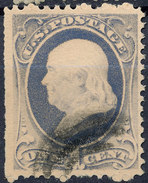 Stamp Us Scott?  Franklin 1c Fancy Cancel Lot#41 - Used Stamps