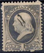 Stamp Us Scott?  Franklin 1c Fancy Cancel Lot#56 - Gebruikt