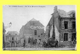 CPA 80 CORBIE (ar. Amiens) Rue De La Mercerie Et Presbytère (animée) N°32 - Corbie