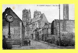 CPA 80 CORBIE (ar. Amiens) Rue Hersent (animée) N°33 - Corbie