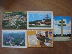 FRANCE - Haute Marne - Lot De 5 Cartes De COLOMBEY LES DEUX EGLISES ( Général De Gaulle - 2 Superbes Panoramas Du Bourg - Colombey Les Deux Eglises