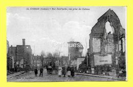 CPA 80 CORBIE (ar. Amiens)  Rue Faidherbe, Vue Prise Du Château (animée) N°35 - Corbie
