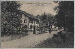 Sihltal - Wildpark Langenberg - Restauration - Animee - Stempel: Langnau - Photoglob - ZH Zurich