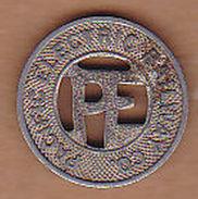 AC -  PACIFIC ELECTRIC RAILWAY CO ONE FARE ZONE 1 - 2  TOKEN - JETON - Monetary/Of Necessity