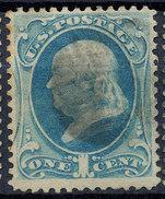 Stamp Us Scott? Color? Franklin 1c Fancy Cancel Lot#28 - Oblitérés