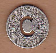 AC -  CULVER CITY CALIFORNIA MUNICIPAL BUS LINE #2 GOOD FOR LOCAL ZONE RIDE FARE  TOKEN - JETON - Monedas/ De Necesidad