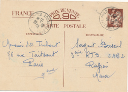 PARIS  - 1940 , Carte Interzone  -  Iris  -  -->  Maroc - 1939-44 Iris