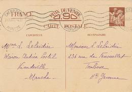 CHERBOURG  - 1940 , Carte Interzone  -  Iris - 1939-44 Iris