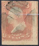 Stamp Us 1861 Washington  3c Fancy Cancel Lot#33 - Used Stamps