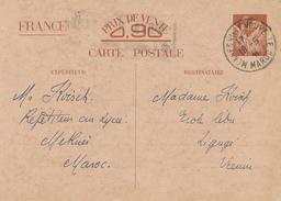 MEKNES / Maroc   - 1941 , Carte Interzone  -  Iris - 1939-44 Iris