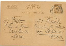 CASABLANCA  / Maroc   - 1941 , Carte Interzone  -  Iris - 1939-44 Iris