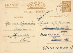 NOURIEUX   - 1941 , Carte Interzone  -  Iris - 1939-44 Iris