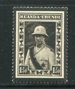 RUANDA-URUNDI- Y&T N°107- Neuf Avec Charnière * - Ruanda-Urundi