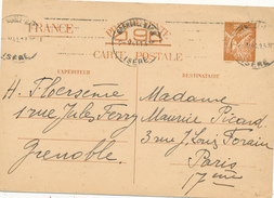 GRENOBLE   - 1941 , Carte Interzone  -  Iris - 1939-44 Iris