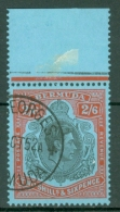 Bermuda: 1938/53   KGVI    SG117d    2/6d   Black & Red/pale Blue   [Perf: 13]  Used - Bermuda