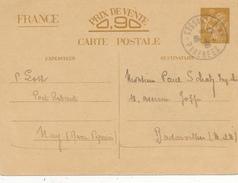 NAY   - 1940 , Carte Interzone  -  Iris - 1939-44 Iris