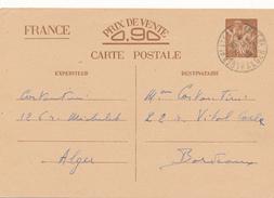 ALGER  - 1940 , Carte Interzone  -  Iris - 1939-44 Iris