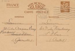 BORDEAUX  - 1941 , Carte Interzone  -  Iris - 1939-44 Iris