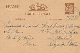 PARIS  - 1941 , Carte Interzone  -  Iris - 1939-44 Iris