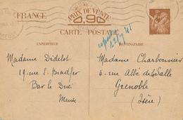 BAR LE DUC  - 1941 , Carte Interzone  -  Iris - 1939-44 Iris