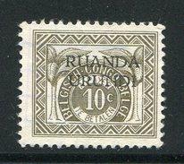 RUANDA-URUNDI- Timbre Taxe Neuf Sans Gomme - Unclassified