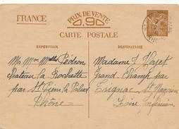 ST. PIERRE-LAPALUD  - 1941 , Carte Interzone  -  Iris - 1939-44 Iris