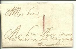Vouwbrief Van 9 Oktober 1690 Van Oudenaarde Naar ? Met Port In Romeins Cijfer I - 1621-1713 (Spaanse Nederlanden)