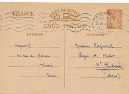 TUNIS - 1941 , Carte Interzone  -  Iris - 1939-44 Iris