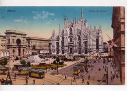 CPA.Italie.Milano.1917.Piazza Del Duomo.animé Trams Personnages - Milano