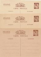 FRANCE - 1940/1  , Carte Interzone    -  3x - 1939-44 Iris