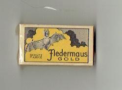 BOITE DE 10 LAMES DE RASOIR - BOX  10 LAMETTA DA BARBA  FLEDERMAUS GOLD  - Hojas-hoja Razor Blades-blade - Rasierklingen - Lames De Rasoir
