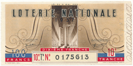 LOTERIE NATIONALE -  1937 - Billetes De Lotería