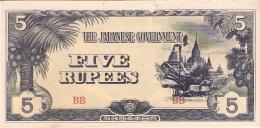 BURMA   5 Rupees   ND (1942-44)   P. 15b - Myanmar