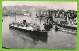 DIEPPE - Vue Générale Du Port Paquebot Liner Photo Véritable - Dieppe